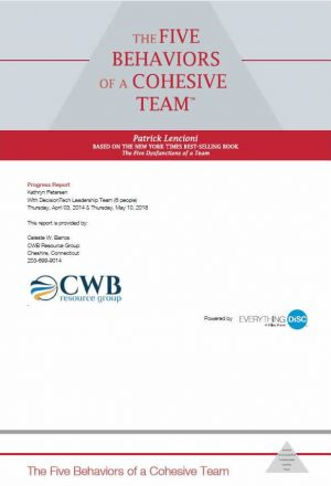 CWB Resource Group Five Behaviors of a Cohesive Team
