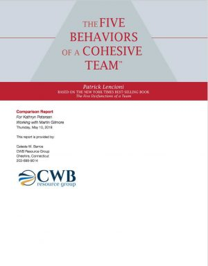 CWB Resource Group Five Behaviors Comparison Report